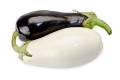 Aubergines noires et blanches Images stock