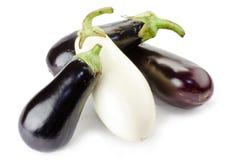 Aubergines noires et blanches Image libre de droits