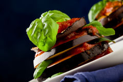 Aubergines with tomato sauce - Parmigiana Royalty Free Stock Photo