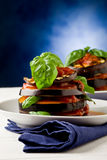 Aubergines with tomato sauce - Parmigiana Stock Photos