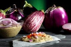 auberginesalade Royalty-vrije Stock Foto's