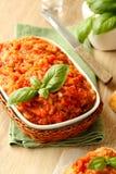 Auberginesalade (kaviaar) in kom, Oekraïens voedsel Stock Foto's