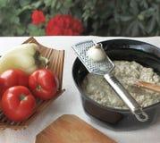 Auberginesalade met mayonaise en groenten 6 Royalty-vrije Stock Fotografie