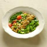 Auberginesallad, libanesisk mat. Fotografering för Bildbyråer