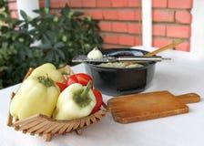 Auberginesallad med majonnäs och grönsaker 5 Royaltyfri Fotografi