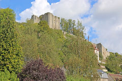 Aubosson Castle , France. Castle above the river in Aubusson Stock Photo