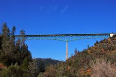 Auburn Bridge Foresthill California highest Royalty Free Stock Images