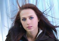 Auburn-haired woman. Stock Photos