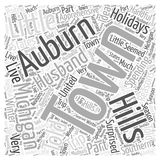 Auburn hills michigan 16 word cloud concept vector background Royalty Free Stock Image