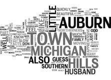 Auburn Hills Michigan Word Cloud Royalty Free Stock Photo
