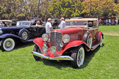 Auburn Phaeton Saloon Coupe. This is a 1934 Auburn Phaeton Saloon Coupe built during the Great Depression for people who still had both discriminating taste and Stock Image