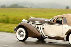 1935 Auburn 851 SC in motion Stock Images