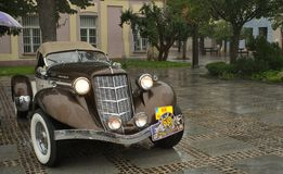 1935 Auburn 851 SC in rain Royalty Free Stock Images