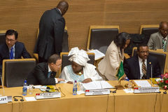 AUC Chairperson discussing with UN Secretary General Royalty Free Stock Images