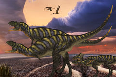 Aucasarus Dinosaurs Royalty Free Stock Photography