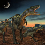 Aucasaurus-3D Dinosaurus Royalty-vrije Stock Fotografie