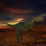aucasaurus dinozaur 3 d Obrazy Stock