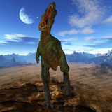 aucasaurus dinozaur 3 d Obrazy Royalty Free