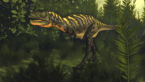 Aucasaurusdinosaurie - 3D framför royaltyfri illustrationer