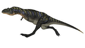 Aucasaurusdinosauriespring - 3D framför Royaltyfri Foto