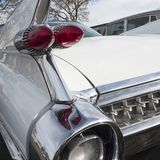 Close-up of the rear of an ancient luxury car. royalty free stock images