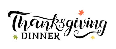 Auch im corel abgehobenen Betrag Danksagungs-Abendessentypographie-Vektordesign für Grußkarten und -plakat auf weißem strukturier stockbilder