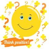 Auch im corel abgehobenen Betrag Denken Sie positiv vektor abbildung