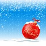 Auch im corel abgehobenen Betrag Frohe Weihnachten lizenzfreies stockbild