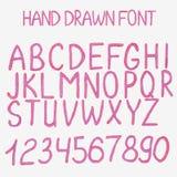 Auch im corel abgehobenen Betrag Hand gezeichnetes Alphabet mit vektor abbildung