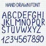 Auch im corel abgehobenen Betrag Hand gezeichnetes Alphabet mit Stockfoto
