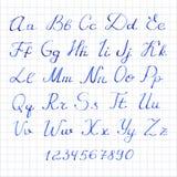 Auch im corel abgehobenen Betrag Hand gezeichnetes Alphabet mit Stockbild