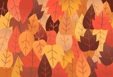 Auch im corel abgehobenen Betrag Hintergrund mit trockenen Blättern Lizenzfreies Stockfoto