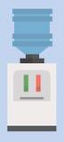 Auch im corel abgehobenen Betrag Ikone des Wasserspenders vektor abbildung