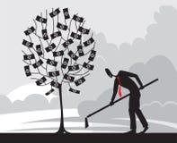 Auch im corel abgehobenen Betrag Investition Stockfoto
