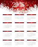 Auch im corel abgehobenen Betrag Kalender des neuen Jahr-2015 Stockfoto