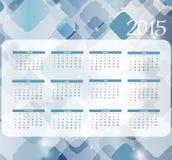 Auch im corel abgehobenen Betrag Kalender des neuen Jahr-2015 Stockbilder