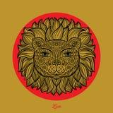 Auch im corel abgehobenen Betrag Lion Head Lizenzfreie Stockbilder