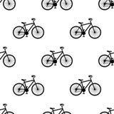 Auch im corel abgehobenen Betrag Nahtloses Muster mit Fahrrädern auf weißem Hintergrund vektor abbildung