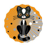 Auch im corel abgehobenen Betrag Nette Katze Lizenzfreie Stockfotografie