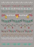 Auch im corel abgehobenen Betrag Satz Weihnachten und dekorative Elemente lizenzfreie abbildung