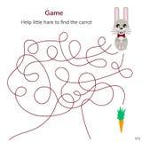 Auch im corel abgehobenen Betrag Spiel für Kinder Labyrinth oder Labyrinth für ki Stockfotos