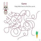 Auch im corel abgehobenen Betrag Spiel für Kinder Labyrinth oder Labyrinth für ki Stockfoto