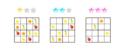 Auch im corel abgehobenen Betrag Sudoku für Kinder mit Bildern an unterschiedlichem stockfotos