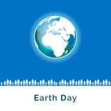 Auch im corel abgehobenen Betrag Tag der Erde-Plakat Stockfotos