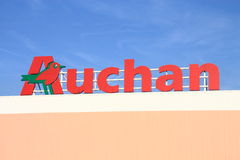 Auchan. Shot of Auchan store logo Stock Photos