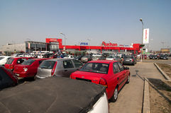 Auchan hypermarket Royalty Free Stock Images