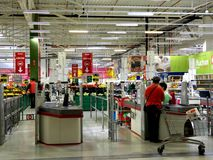 Auchan Hypermarket Royalty Free Stock Photos