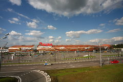 Auchan Hypermarket. In Moscow Park cars Stock Images