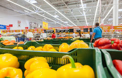 Auchan Samara Store in shopping center Ambar Royalty Free Stock Photo