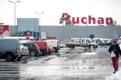 Auchan store Stock Photo